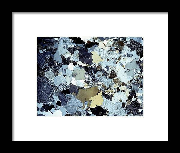 Granite Framed Print featuring the photograph Granite Rock, Light Micrograph by Dirk Wiersma