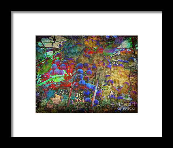 Grape Framed Print featuring the mixed media Grape by Irina Hays