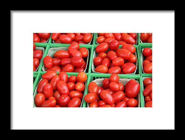 Background Framed Print featuring the photograph Grape Tomatoes by Kim French