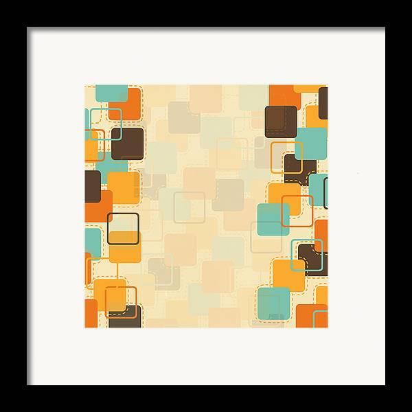 Art Framed Print featuring the photograph Graphic Square Pattern by Setsiri Silapasuwanchai