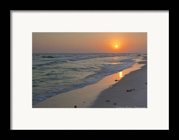 Beach Framed Print featuring the pyrography Grayton Beach Sunset 5 by Charles Warren