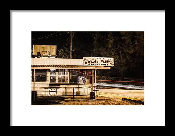 Great Framed Print featuring the photograph Great Pizza by James Bull