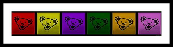 Greatful Dead Framed Print featuring the photograph Greatul Dead Dancing Bears In Muti Colors by Rob Hans