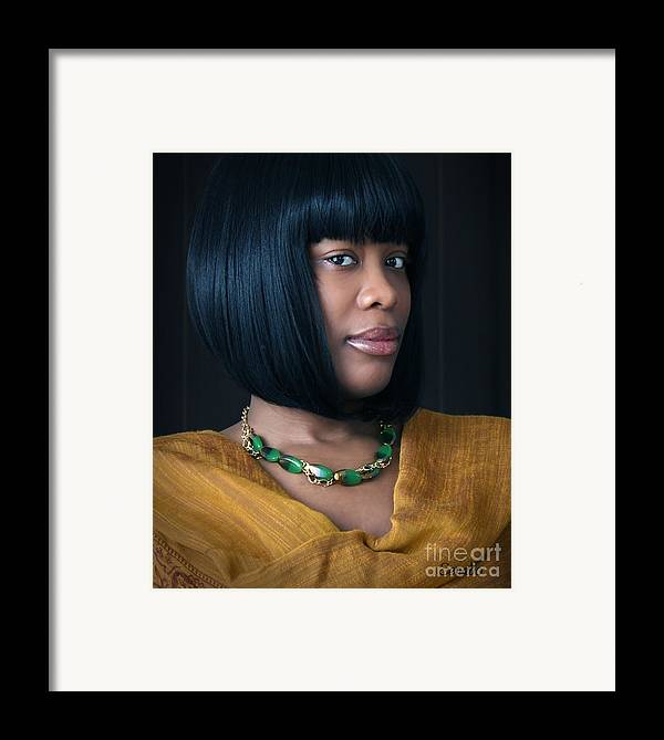 Jewelry Framed Print featuring the photograph Green And Gold by Eena Bo