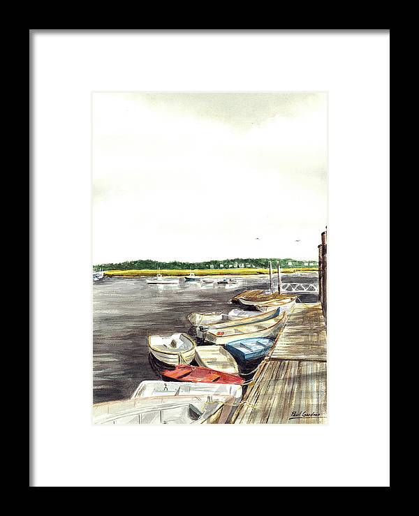 Marshfield Framed Print featuring the painting Green Harbor by Paul Gardner