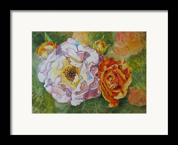 Close Focus Floral Framed Print featuring the painting Green Ice by Patsy Sharpe