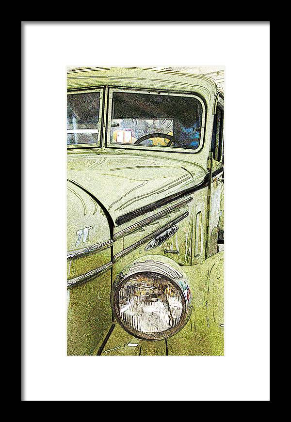 Old Truck Framed Print featuring the photograph Green by Joe Fernandez