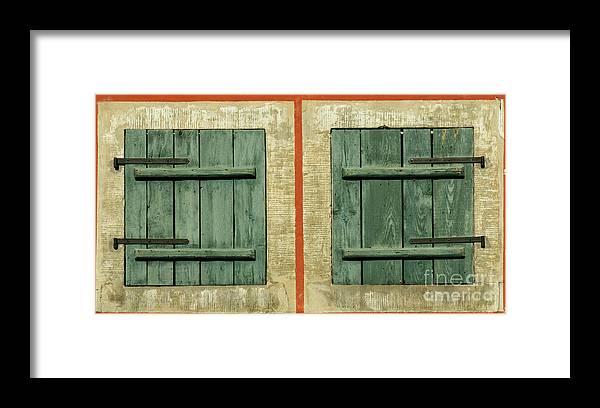 Dresden Framed Print featuring the photograph Green Shutters by Katja Zuske