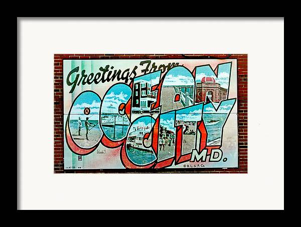 Fair Framed Print featuring the photograph Greetings From Oc by Skip Willits