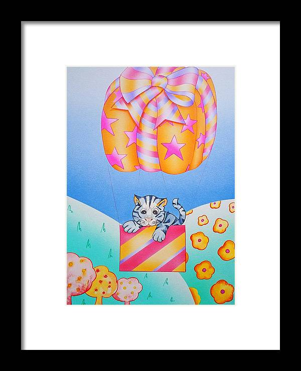 Greetings Framed Print featuring the painting Greetings by Virginia Stuart