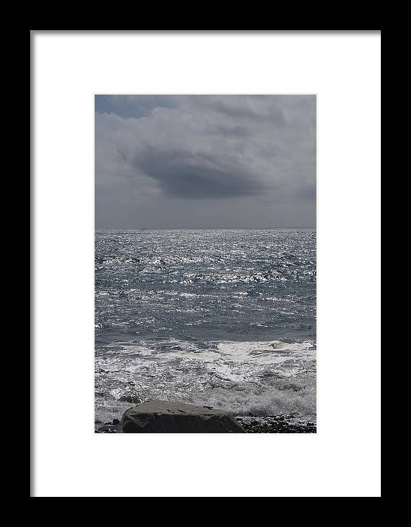 Summer Storm Framed Print featuring the photograph Grey Clouds In A Grey Sky by Barry Doherty