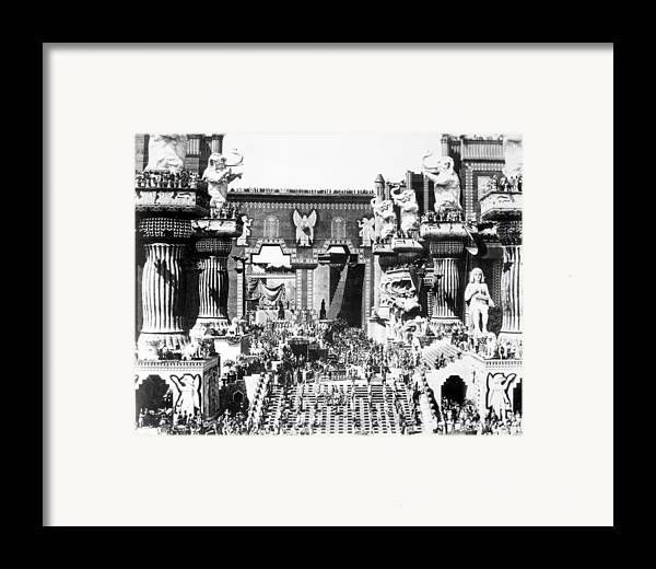 -ecq- Framed Print featuring the photograph Griffith: Intolerance 1916 by Granger