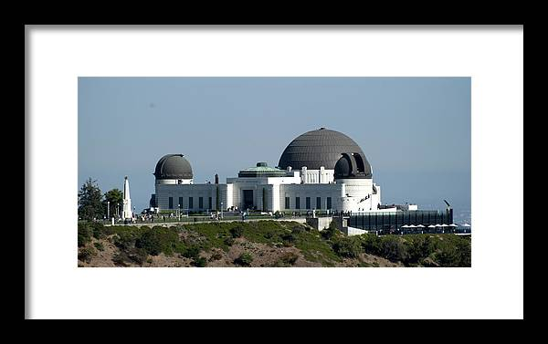 Griffith Framed Print featuring the photograph Griffith Observatory II by Malania Hammer