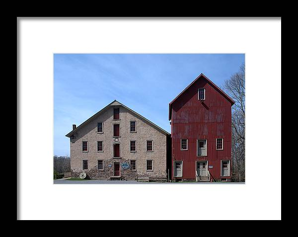 Prallsville Mills Framed Print featuring the photograph Gristmill At Prallsville Mills by Steven Richman