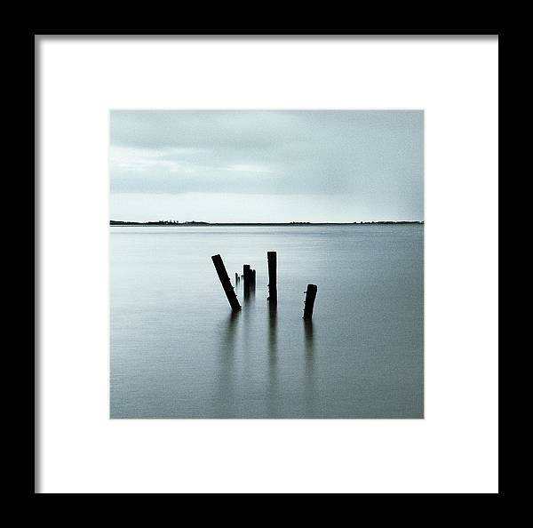 Post Framed Print featuring the photograph Groyne Posts by Andy Linden