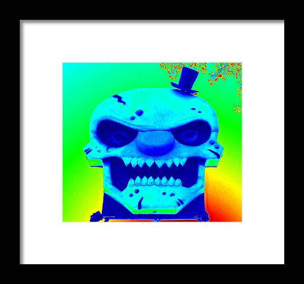 Seattle Framed Print featuring the photograph Grunge City Demon 1 by Randall Weidner