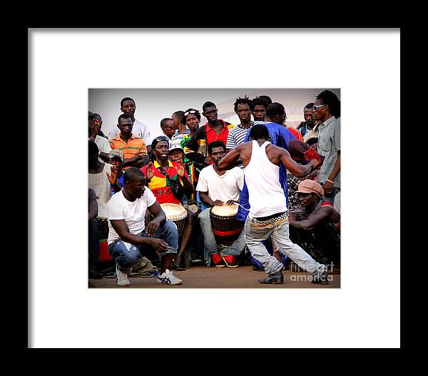 West African Dance Framed Print featuring the photograph Guinean Dancing by Renee Rushing