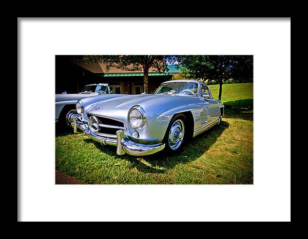 Mercedes Framed Print featuring the photograph Gullwing by Ches Black