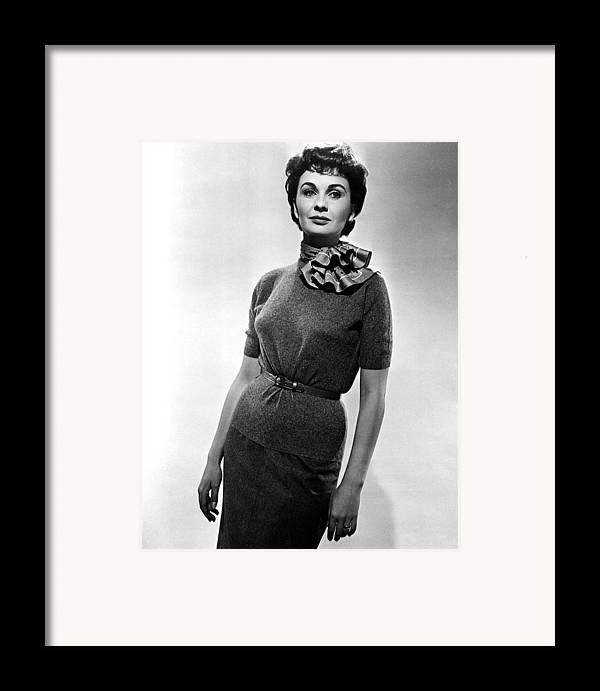 1950s Movies Framed Print featuring the photograph Guys And Dolls, Jean Simmons, 1955 by Everett