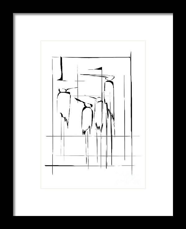 Graphics Framed Print featuring the digital art Gv087 by Marek Lutek