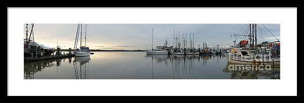 Harbour Framed Print featuring the photograph Habour Morning by James Yang