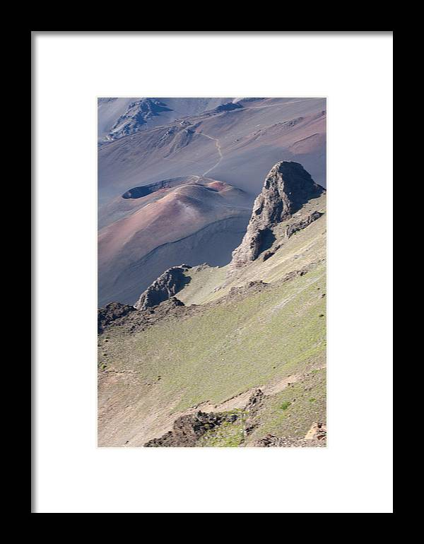 Haleakala Framed Print featuring the photograph Haleakala Cinder Cone 2 by Tony and Kristi Middleton