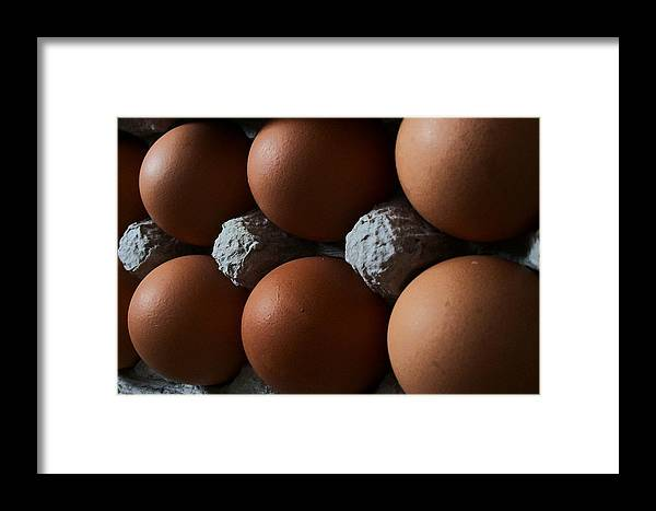 Eggs Framed Print featuring the digital art Half Dozen by Wide Awake Arts