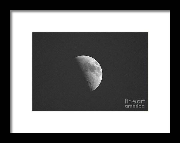 Moon Framed Print featuring the photograph Half Moon by Lori Tordsen