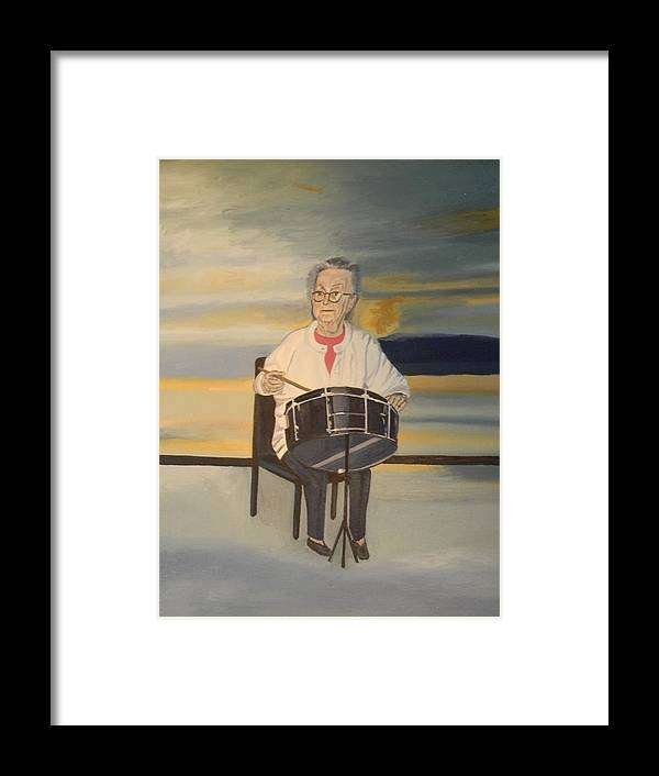 Halifax Explosion Survivor Portrait Drums Framed Print featuring the painting Halifax Explosion Survivor by Edith Ross