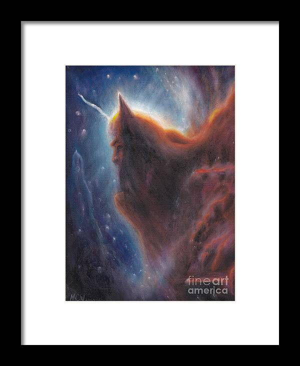 Aliens Framed Print featuring the painting Halloween In Space by Michelle Cavanaugh-Wilson