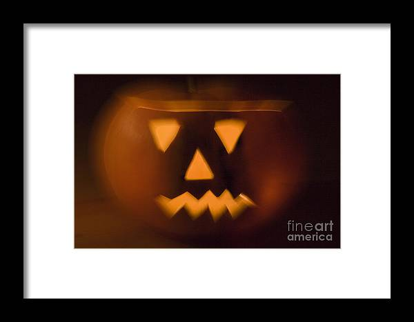 Autumn Framed Print featuring the photograph Halloween Pumpkin by Alex Rowbotham