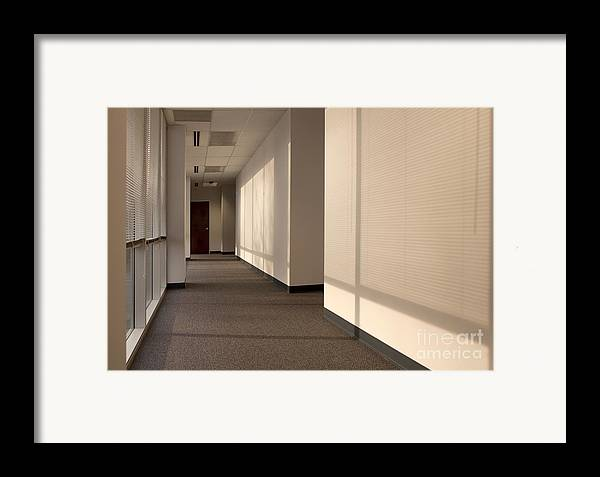 Airy Framed Print featuring the photograph Hallway Of An Office Building by Will & Deni McIntyre