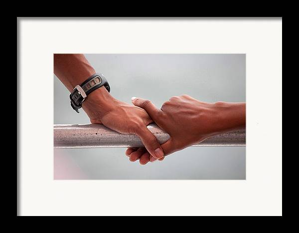 History Framed Print featuring the photograph Hands Of President Obama And Michelle by Everett