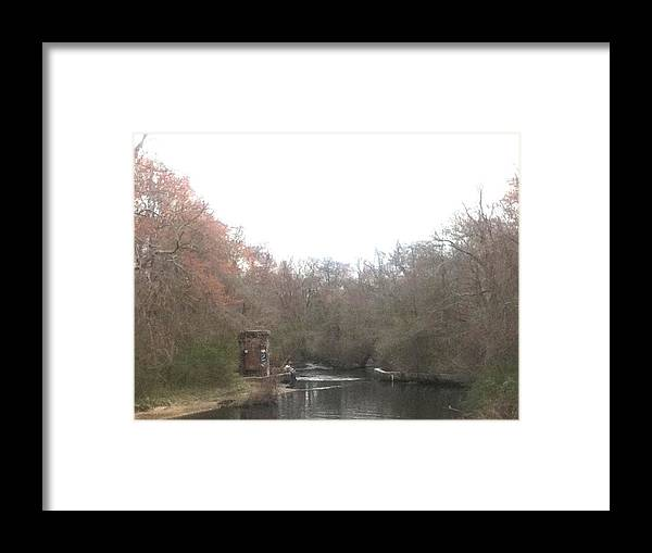 Landscape Framed Print featuring the digital art Hangin' by Mario Bruno