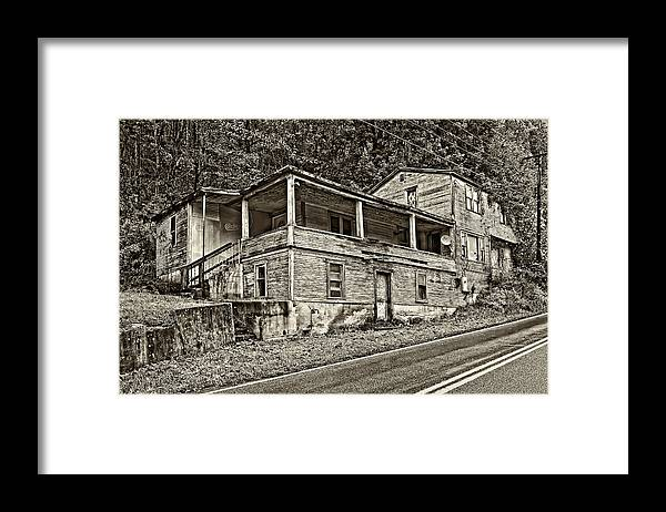 West Virginia Framed Print featuring the photograph Hanging In Sepia by Steve Harrington