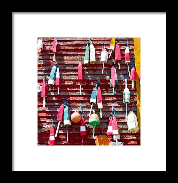Photo Of Buoys Framed Print featuring the photograph Hanging Out by Sarah Gayle Carter