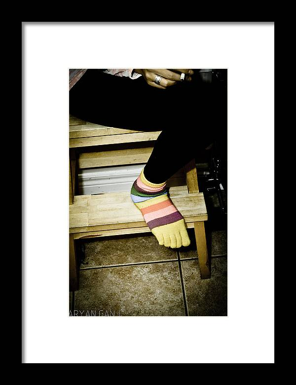Framed Print featuring the photograph Happy Feet by Aryan Ganji
