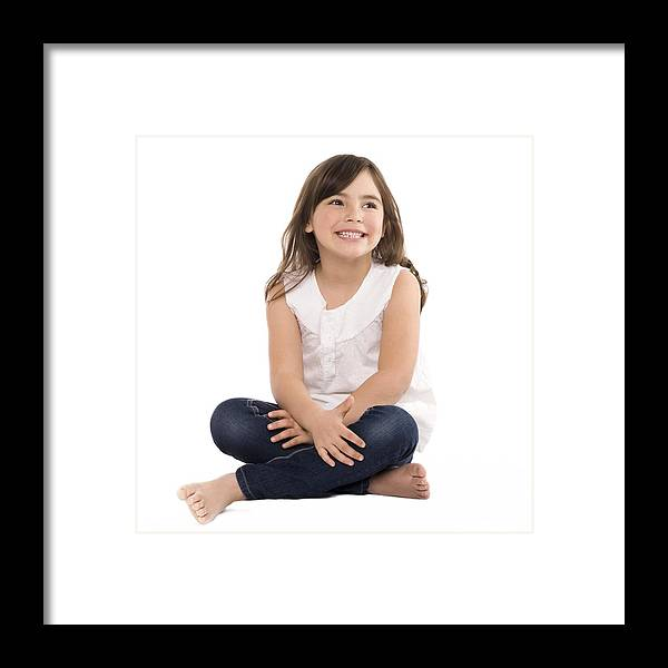 4-5 Years Framed Print featuring the photograph Happy Girl by