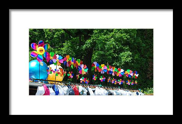 Market Framed Print featuring the photograph Happy Market by Evelina Popilian