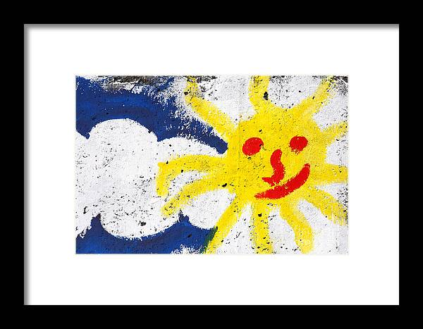 Happy Framed Print featuring the photograph Happy Sun Face by Gaspar Avila