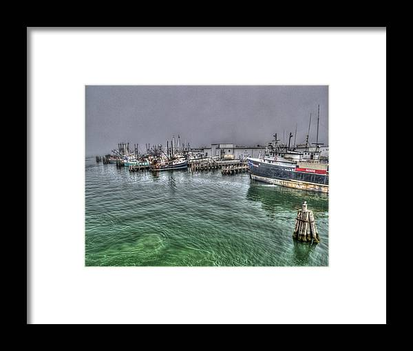 Photography Framed Print featuring the photograph Harbor Dawn by Paul Wear