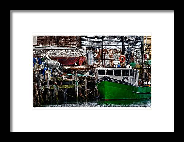 Architecture Framed Print featuring the photograph Harbor Dock by Richard Bean