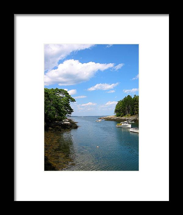 Photo Of Maine Framed Print featuring the photograph Harbor Home Maine by Sarah Gayle Carter