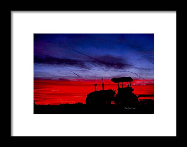 Farming Framed Print featuring the photograph Hard Day Ends by La Rae Roberts