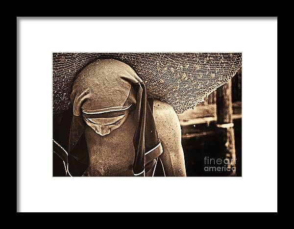 Worker Framed Print featuring the photograph Hard Work by Charuhas Images