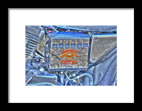 Harley Davidson Framed Print featuring the photograph Harley Davidson 2 by Steve Purnell