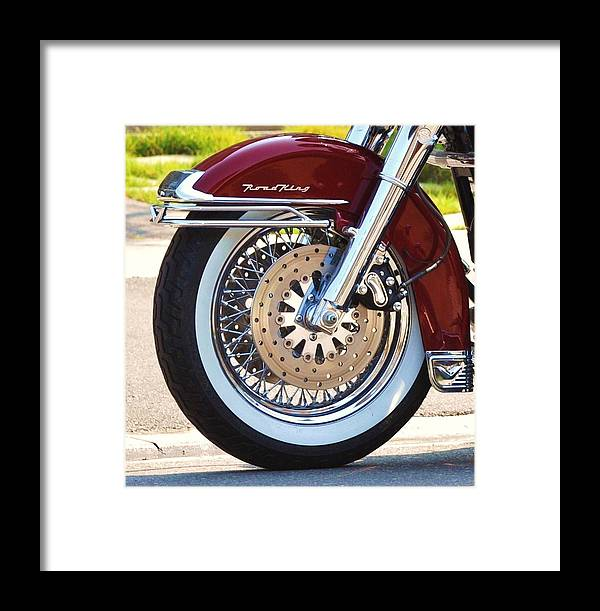 Harley Davidson Motorcycle Posters Framed Print featuring the photograph The Open Road by Lisa DiFruscio