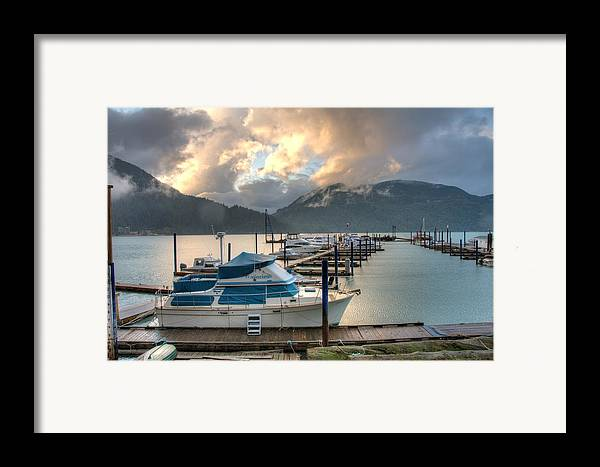 Harrison Framed Print featuring the photograph Harrison Lake At Dusk by Lawrence Christopher