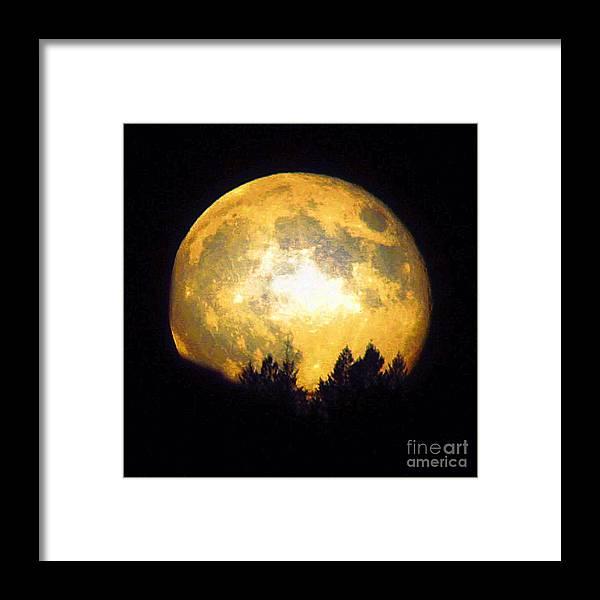 Paul Baker Photographs Framed Print featuring the photograph Harvest Moon 2012 by Paul Baker