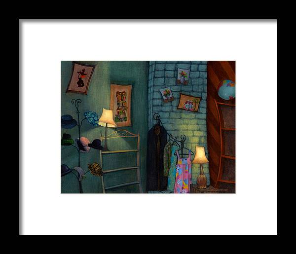 Hats Framed Print featuring the painting Hats by Jordan Avery Foster